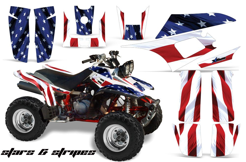 Yamaha Warrior 350 All Years ATV All Terrain Vehicle AMR Racing Graphic Kit Decal STARS AND STRIPES