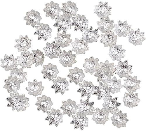 LOT de 8 PENDENTIFS perles breloques FLEURS OUVERTES FLOWER création bijoux
