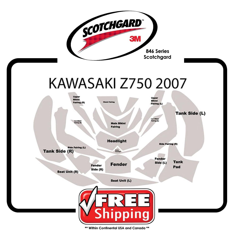 キットfor Kawasaki z750 2007 – 2012 – 3 M 846シリーズScotchgardペイント保護   B01N19R73Y