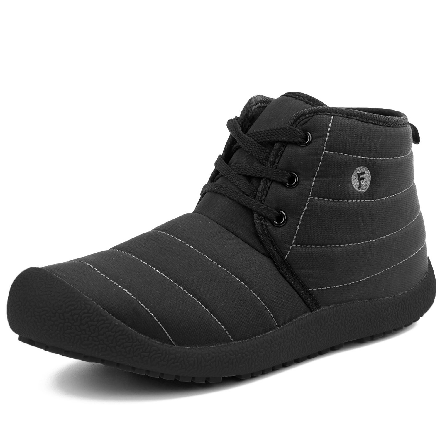 L-RUN Mens Outdoor Shoes Casual Ankle Boots Lightweight Black 9 (D) M US