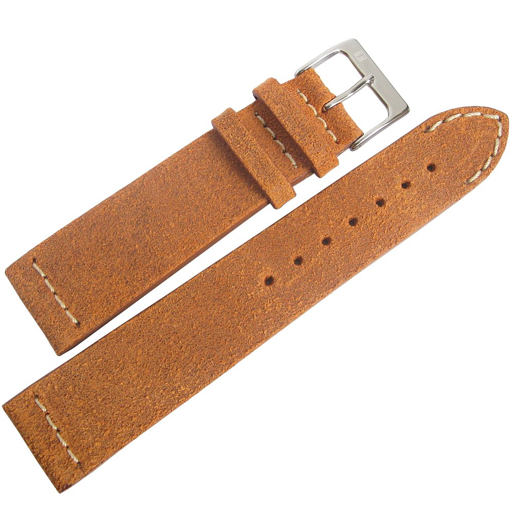 ColaReb 20mm Spoleto Short Rust Brown Leather Watch Strap