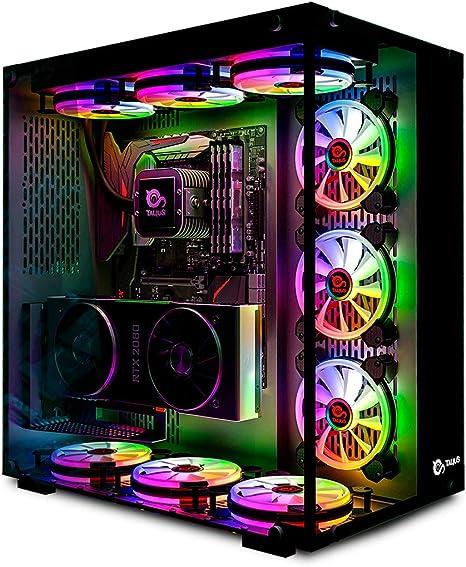 Talius Cronos Caja Gaming ATX, Cristal Templado, Ventiladores Iris RGB: Amazon.es: Informática