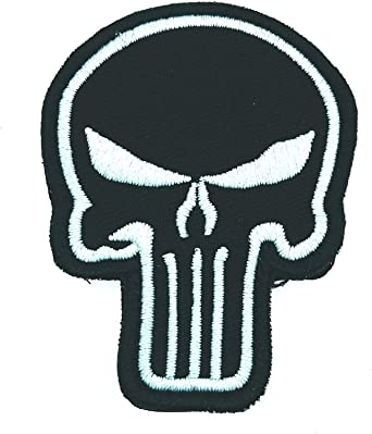 Gemelolandia | Parche Bordado Velcro Calavera The Punisher 7 cm Modelo II | Muy Adherentes | Patch Stickers Para Decorar Tu Ropa | Fáciles de Poner: Amazon.es: Ropa y accesorios