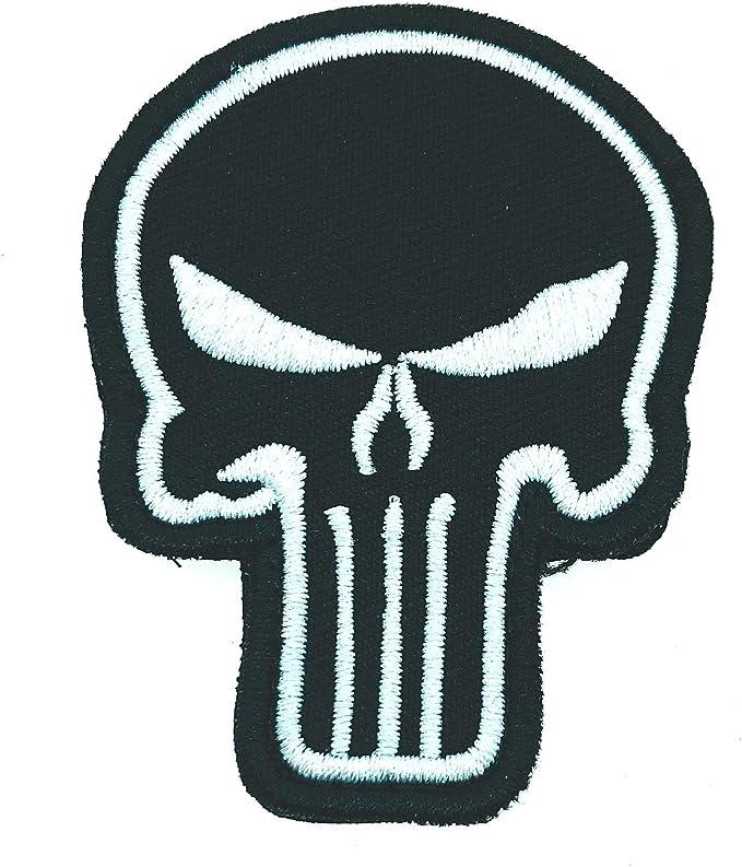 Gemelolandia | Parche Bordado Velcro Calavera The Punisher 7 cm Modelo II | Muy Adherentes | Patch Stickers Para Decorar Tu Ropa | Fáciles de Poner: Amazon.es: Ropa y accesorios