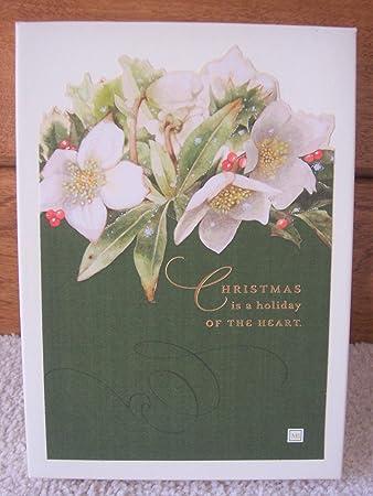 Amazon vintage hallmark marjolein bastin box 18 die cut vintage hallmark marjolein bastin box 18 die cut christmas cards white flowers m4hsunfo