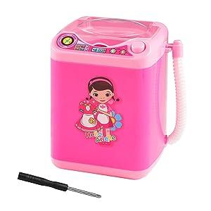 Falagasa Makeup Sponge Washing Machine, Mini Makeup Brush Cleaner Device Automatic Makeup Sponge Washing Machine for mini Makeup Sponge (Light Pink)