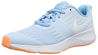 8eec6570eee5 Nike Girl s Star Runner (GS) Running Shoe Cobalt Tint White Blue Chill