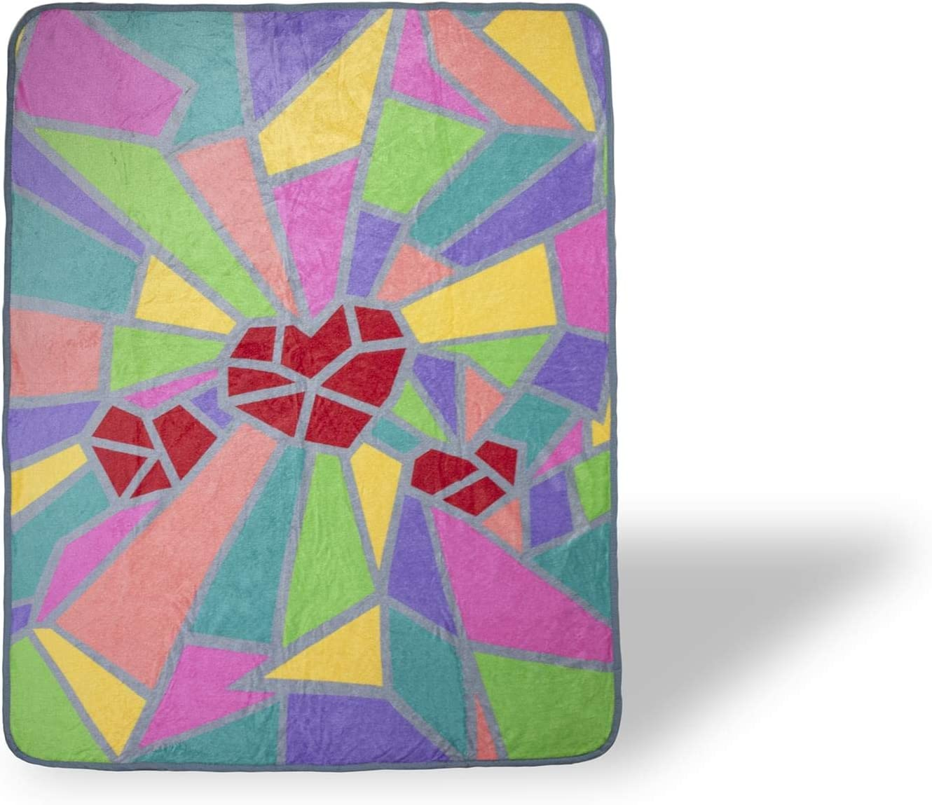2020 Sidewalk Chalk Inspired Mosaic Heart We are in This Together Throw Blanket   Super Soft Lightweight Fleece Wrap   Quarantine Gifts for Friends and Family   45 x 60 Inches