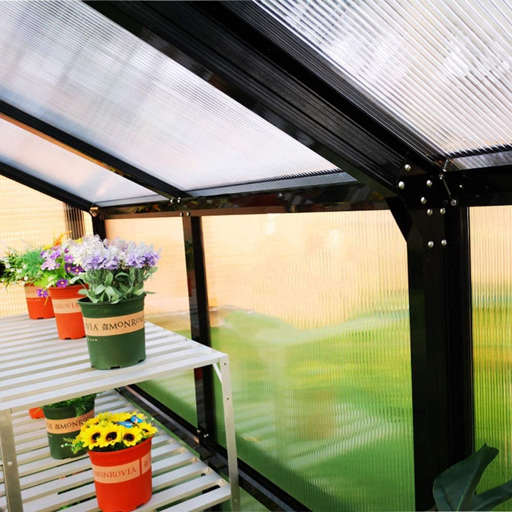 QWERTOUY Gazebo/jardín de Aluminio a Prueba de Agua al Aire Libre ...