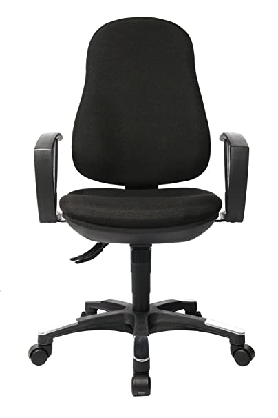 Topstar 9020AG20, Trend SY 10, Bürostuhl, Schreibtischstuhl, ergonomisch, mit Armlehnen, Bezugsstoff schwarz