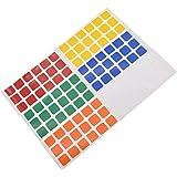 YNuth 6x Durable Sticker Autocollant De Rubik's Cube 3x3x3 - 6 faces 6 couleurs