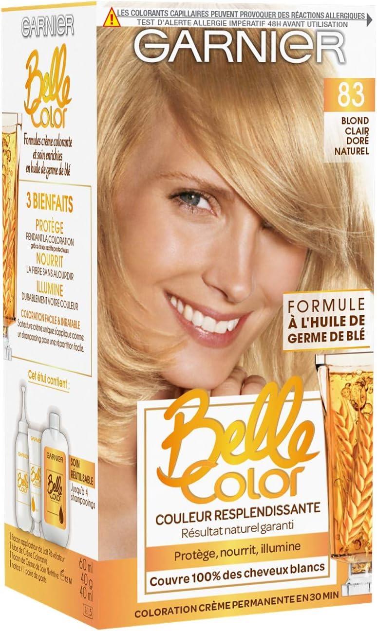Garnier Belle Color – Coloración permanente Blond – 83 Rubio Claro,