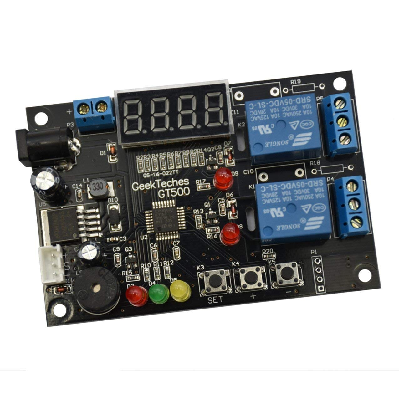 Black Gt500 1 Set Temperature And Humidity Control Module With Sensor Y9D4