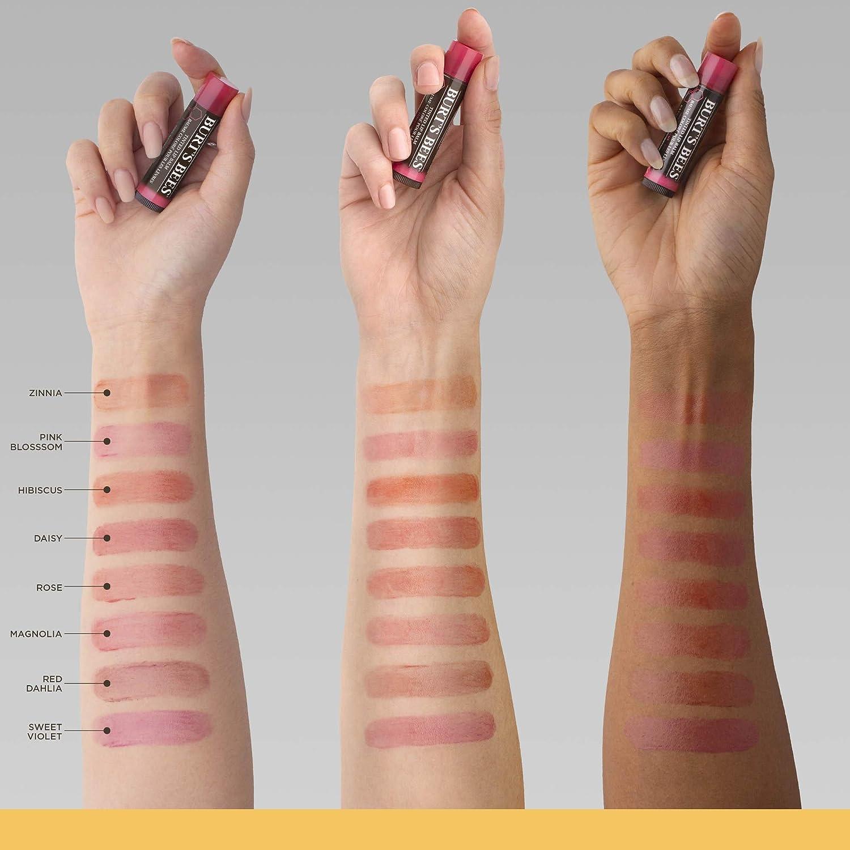 Burt S Bees Tinted Lip Balm Zinnia 0 15 Ounce Tube Amazon Ca Beauty