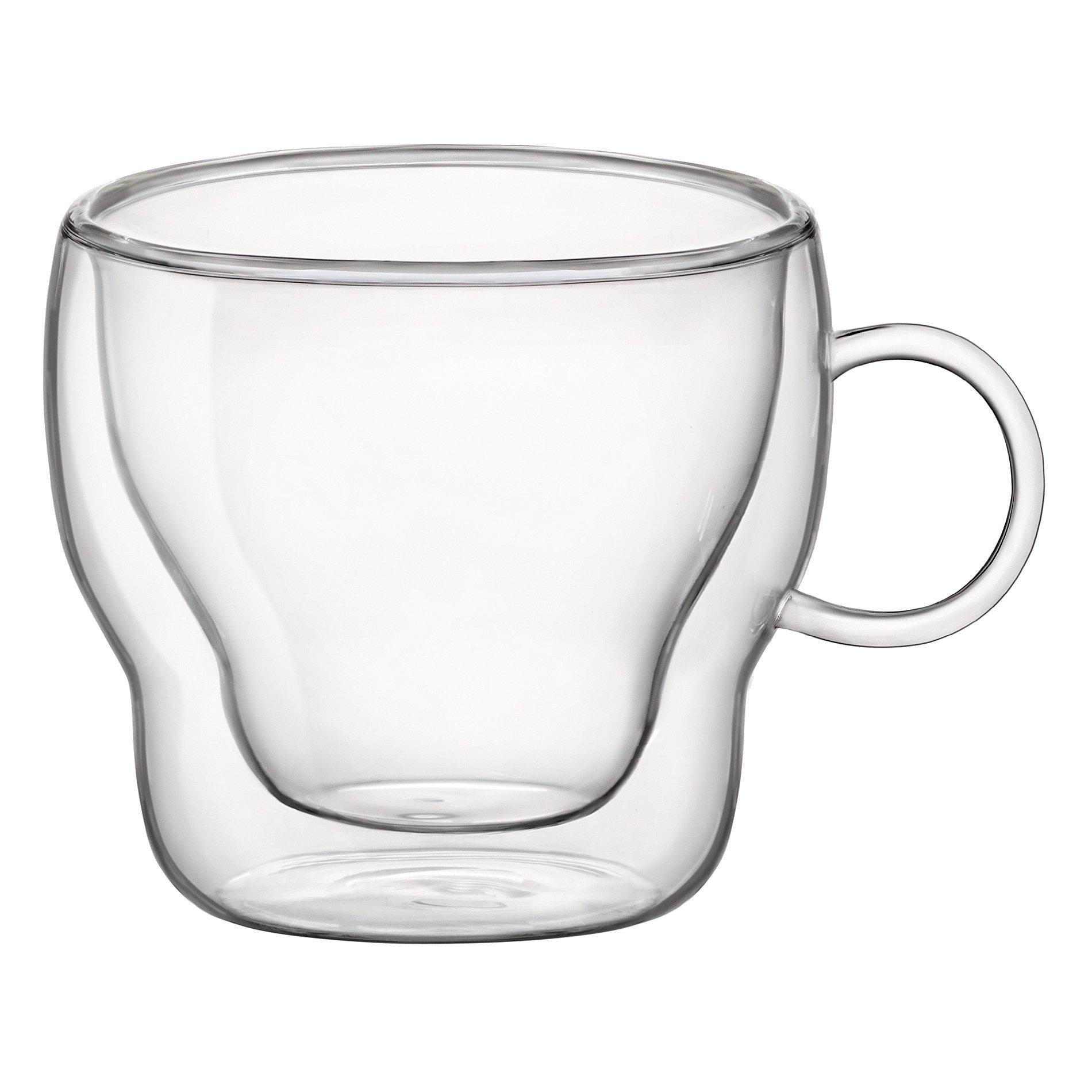 Bormioli Rocco Double Wall Glass 3 Ounce Espresso Mug, Set of 2