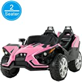 Uenjoy 2 Seats Kids Car 12V Ride On Racer Cars Battery Operated Electric Cars w/ 2.4G Remote Control,Spring Suspension…