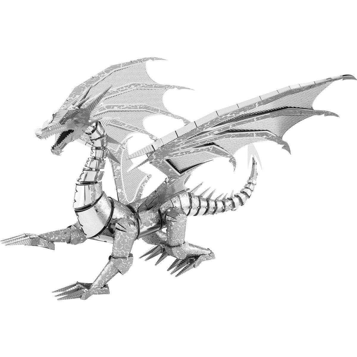 Fascinations Metal Earth ICONX Silver Dragon 3D Metal Model Kit by Fascinations