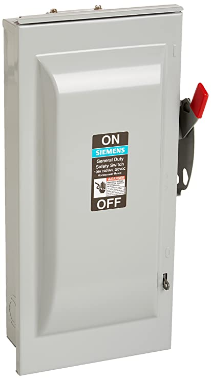 SIEMENS GNF323R 100 Amp, 3 Pole, 240-Volt, 3 Wire, NON-Fused ...