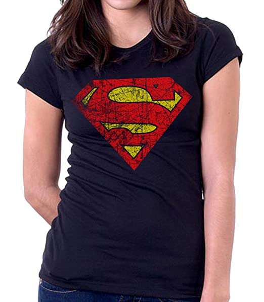 35mm - Camiseta Mujer - Superman - Women s T-Shirt  Amazon.es  Ropa y  accesorios 2c584afd089