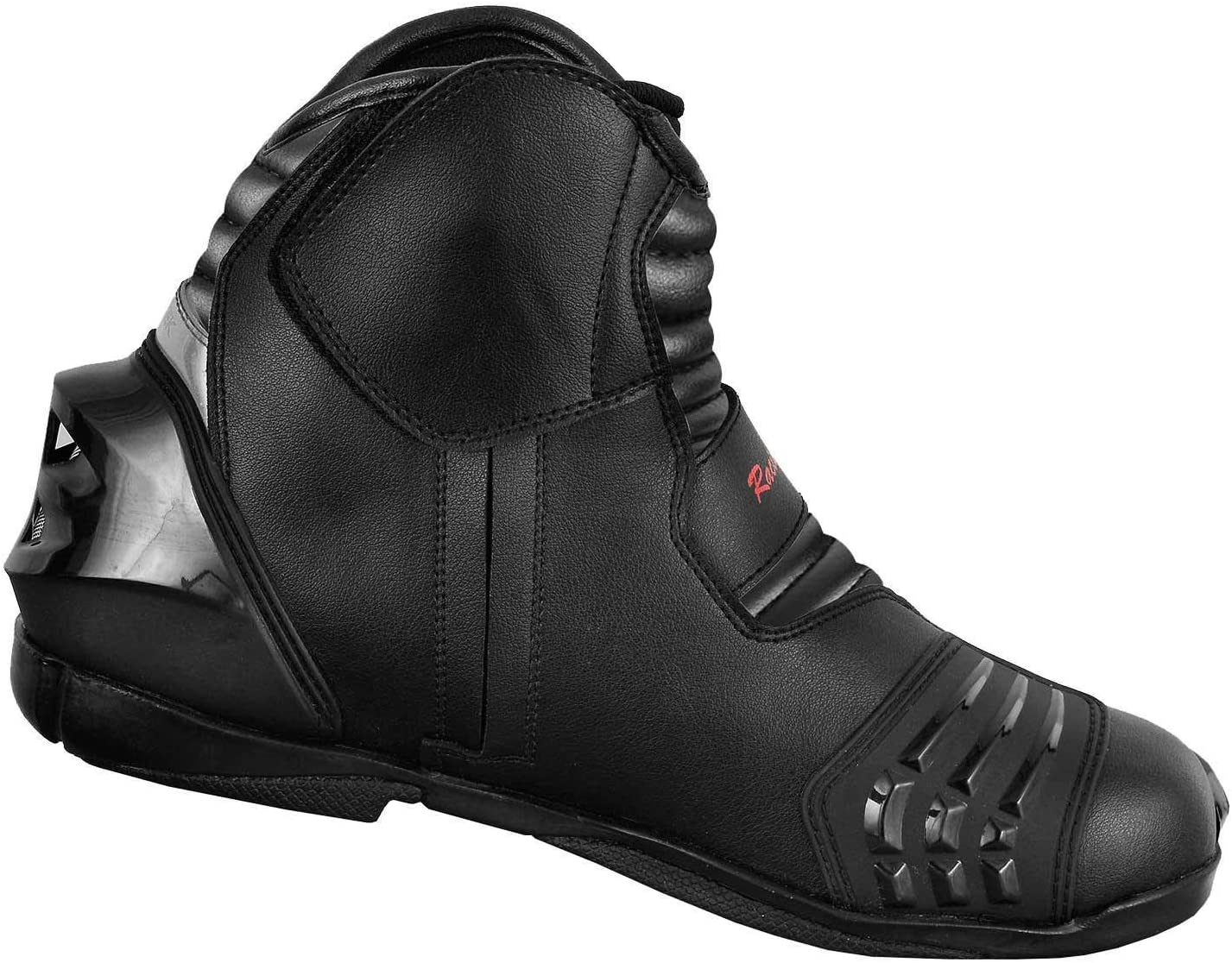 Red /& Black UK 9//EU 43 PROFIRST Nextek Genuine Leather Motorbike Armoured Boots Motorcycle Short Ankle Protection Boot Shoes Anti Slip Racing Sports Reflector