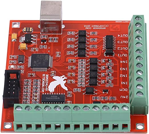 100Khz Motion Controller Card Breakout Board for CNC Engraving Wendry DIY CNC Controller Card USB 4-Axis Linkage Mach3 Stepper Motor Motion Control Card