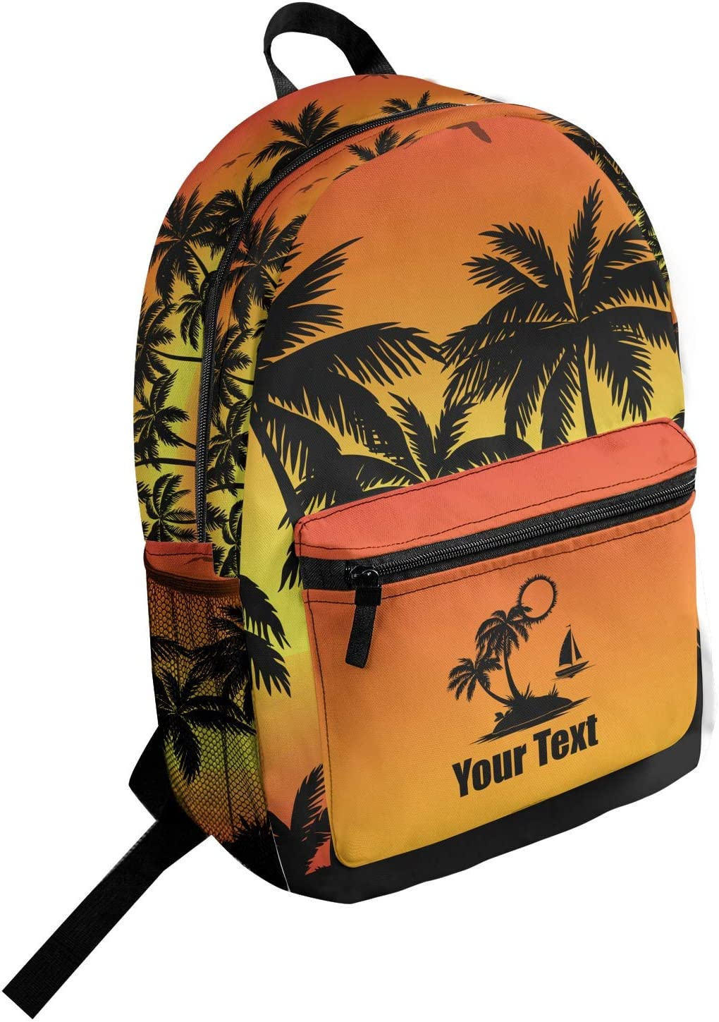 Tropical Sunset Student Backpack Personalized