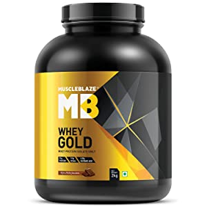 MuscleBlaze Whey Gold 100% Whey Protein Isolate - 2 Kg / 4.4 lb (Rich Milk Chocolate)