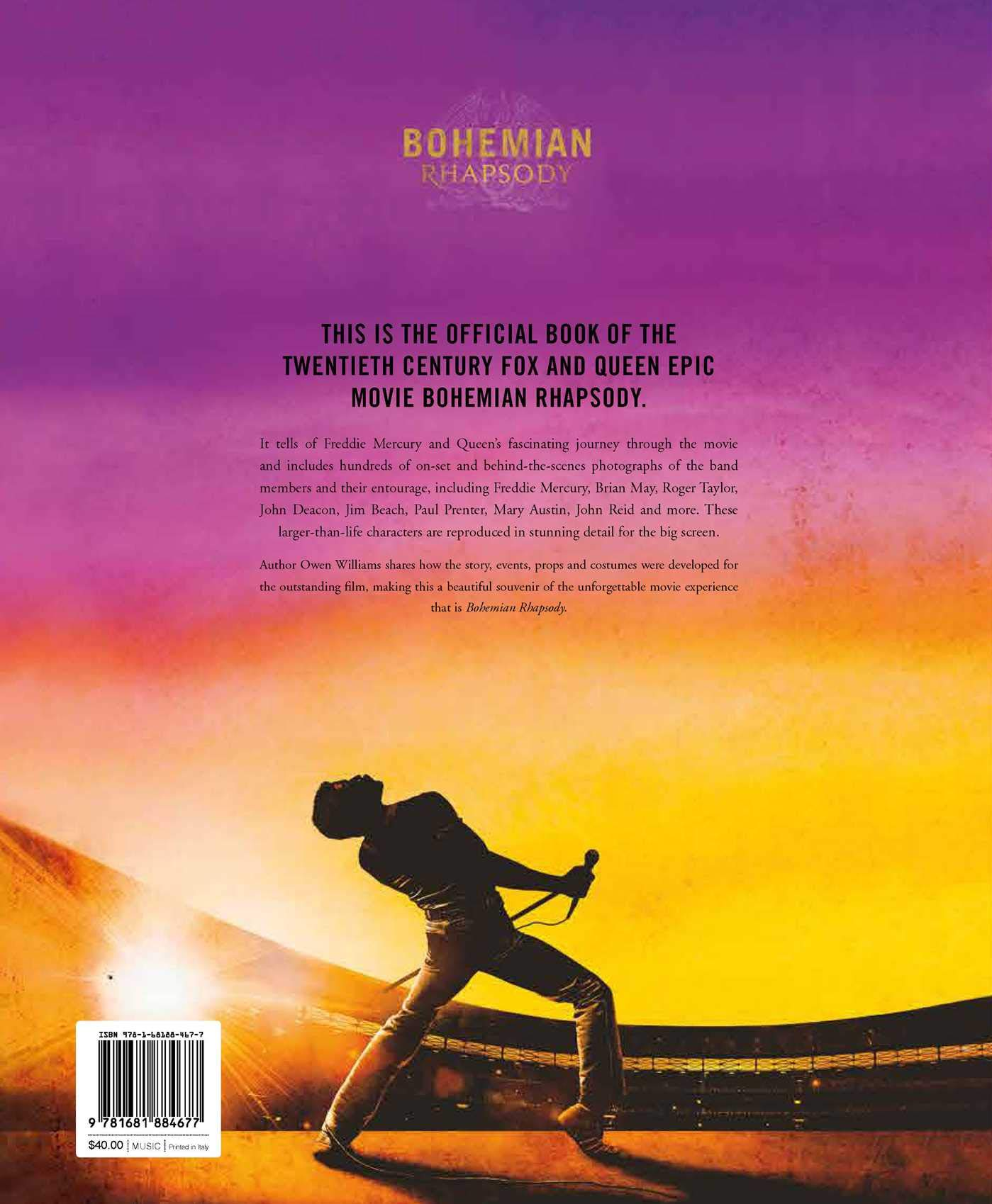 amazon bohemian rhapsody the official book of the movie owen