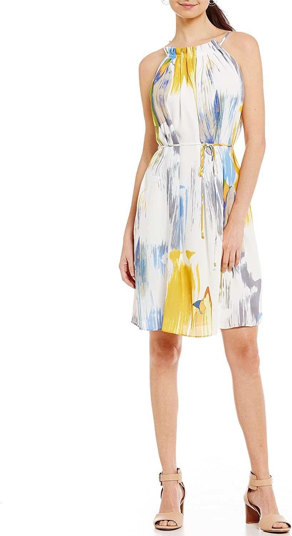 Antonio Melani New Charome Printed Sateen Shift Dress Size 0 4 6 NWT