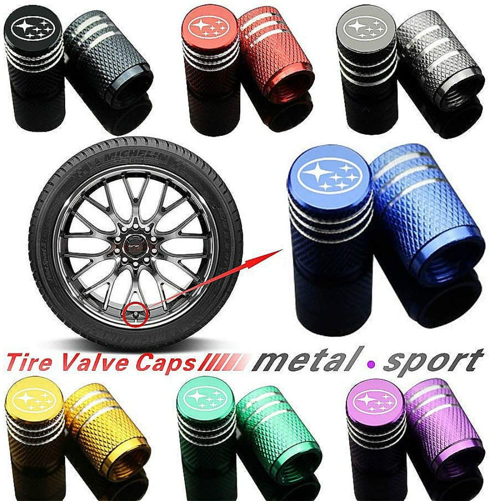 Motorcycles for Audi, Silver Truck 4pcs Multicolor Car Tire Air Valve Caps- Auto Wheel Tyre Dust Stems Cover with Logo Emblem Waterproof Dust-Proof Universal fit for Cars SUV
