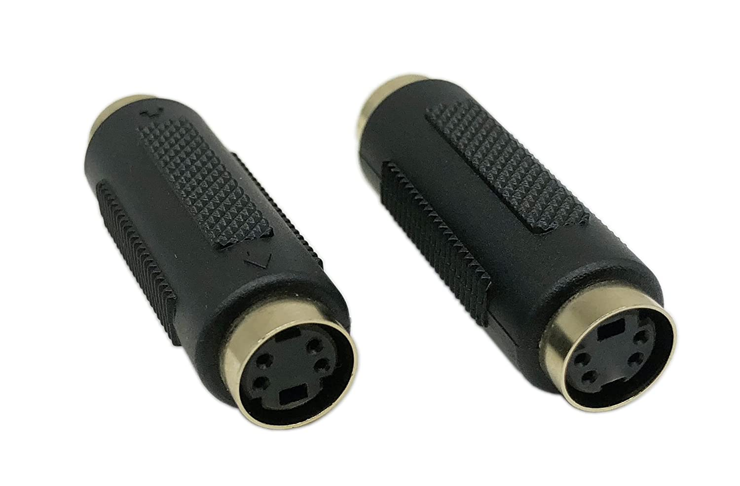 CERRXIAN S-Video Mini Din 4 PIN Female to RCA Composite Male Connector Adapter(sf-rm, 2-Pack) Lemeng