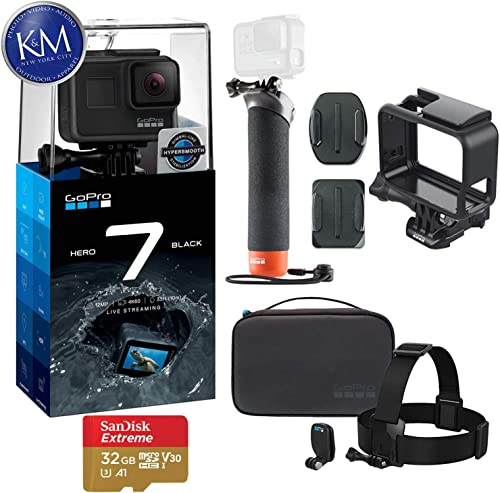 GoPro Hero 7 Black Action Camera with GoPro Adventure Kit Essential Bundle