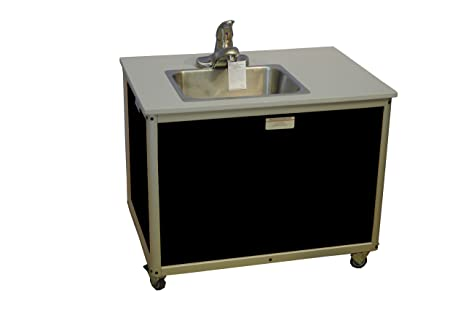 preschool bathroom sink. Monsam PSE-2006I Black Preschool And Childcare Single Basin Portable Sink, 27\u0026quot; Length Bathroom Sink O