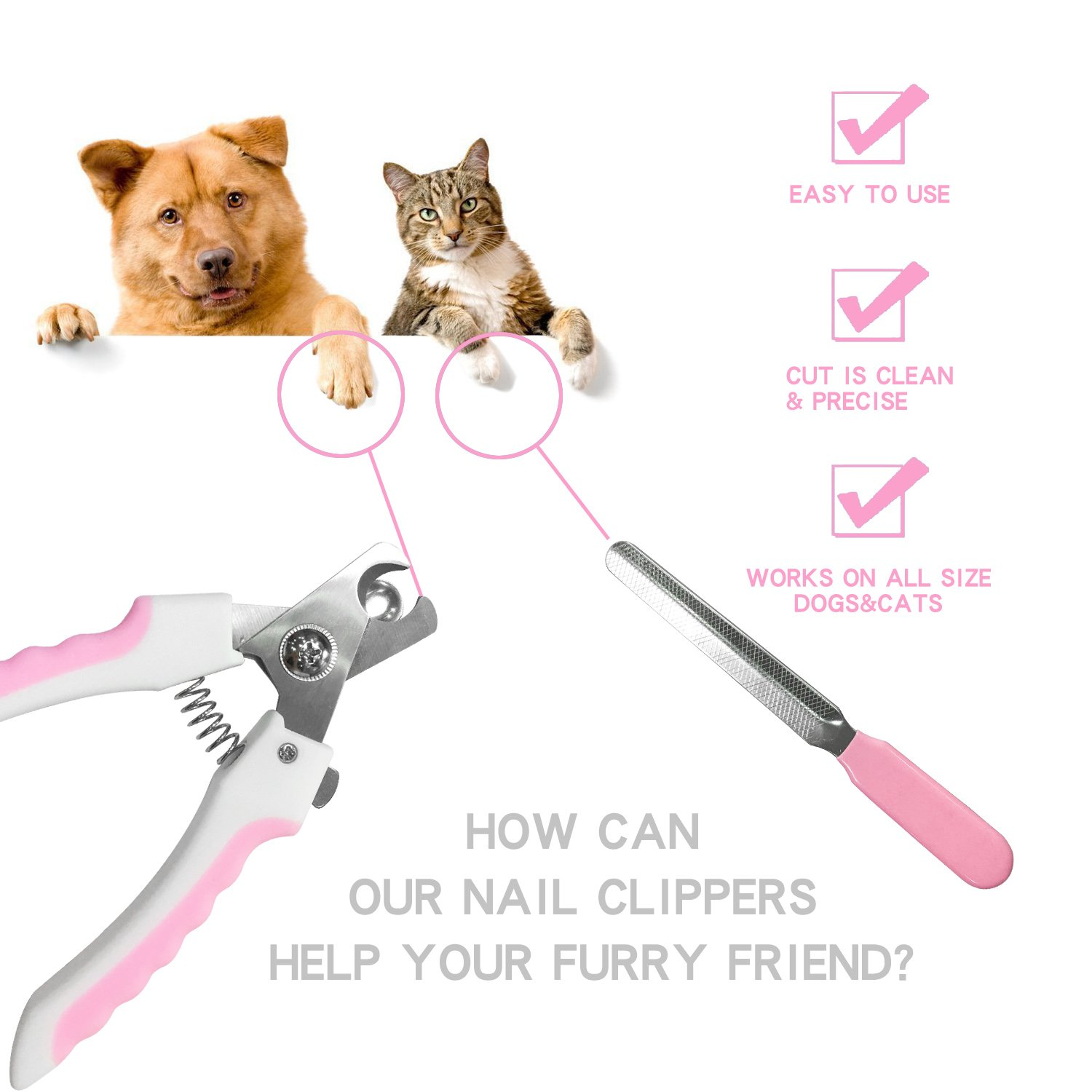 Amazon Gmaso Top Grade Dog Nail Clipper with Safety Guard to