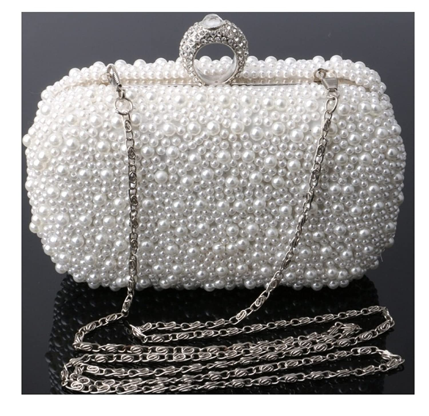 Abless Womens Glamour Elegant Evening Clutch Fashion Purse Chain Handbag -SK1118