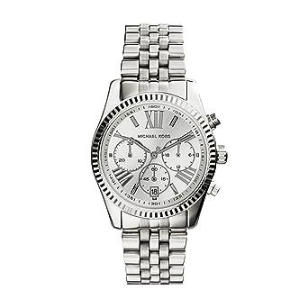 5f68168d731b Amazon.com  Michael Kors Women s MK5555 - Vintage Classic Lexington  Chronograph Silver  Michael Kors  Watches