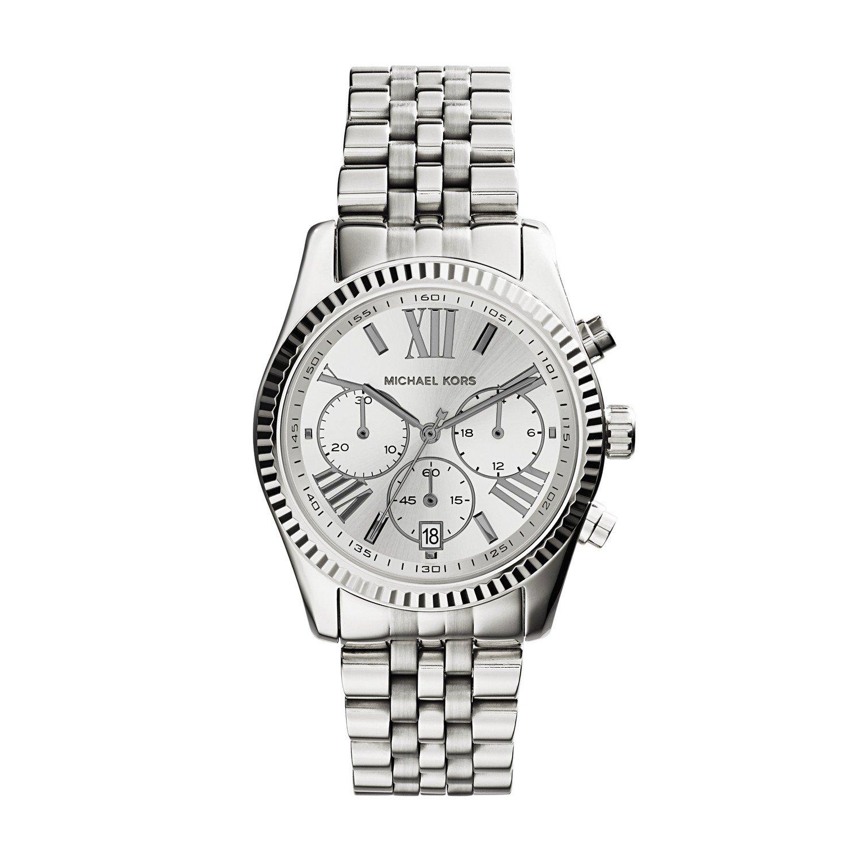 Michael Kors Women's Lexington Watch, Silver, One Size