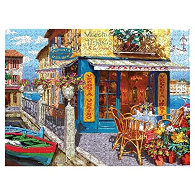 8 Jigsaw Puzzle 1000 Pieces for Adults, Landscape Building Pattern Home Decoration Puzzle Intellective Educational Toy Gift EAZsyn8 (0422-1, A): Garden & Outdoor
