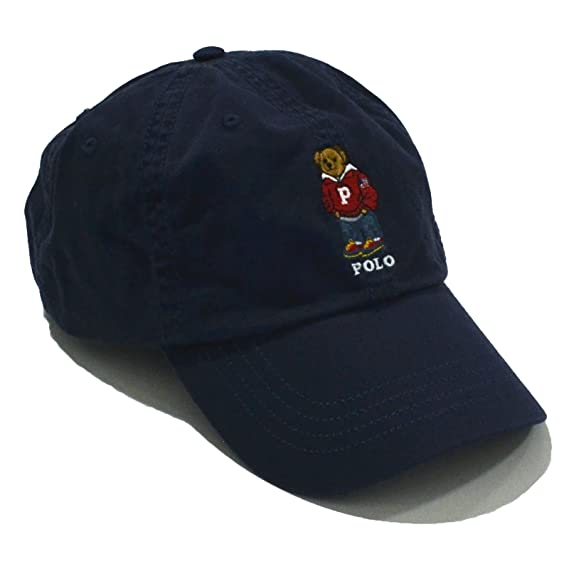 8241c4685bedf Polo Ralph Lauren Mens Teddy Bear Adjustable Ball Cap Hat One Size (Navy  Blue)  Amazon.in  Clothing   Accessories