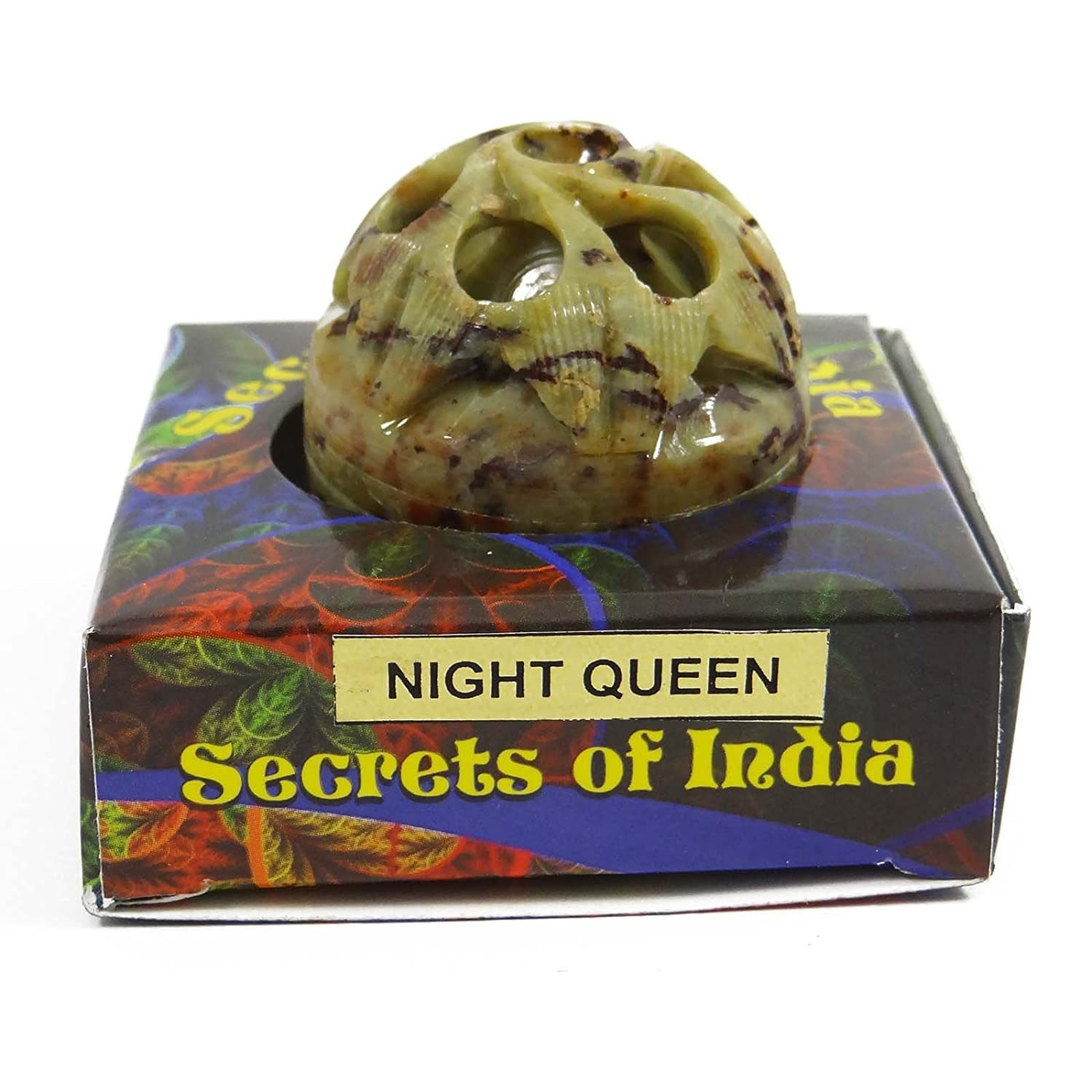 Natural Night Queen Solid Perfume Body Musk In Stone Jar 8
