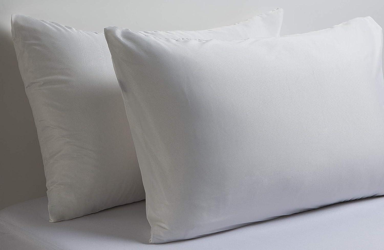 Lin Zone Drap-Housse en Coton /égyptien 400/Fils tr/ès Profond de Luxe de qualit/é h/ôteli/ère Blanc 2 Oxford Pillow Cases 50x75CM