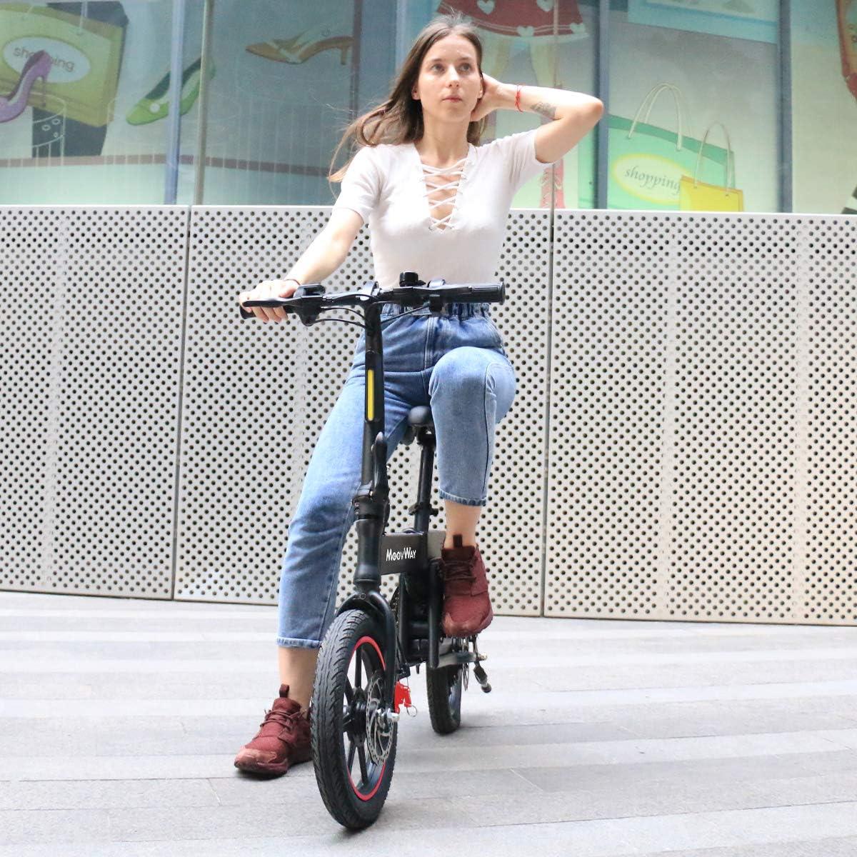 350W Motor Bicicleta Plegable 25 km//h y 25 km Asiento Ajustable Bater/ía 36V 6.0Ah con Pedales Bici Electricas Adulto con Ruedas de 14 MoovWay Bicicleta El/éctrica Plegables