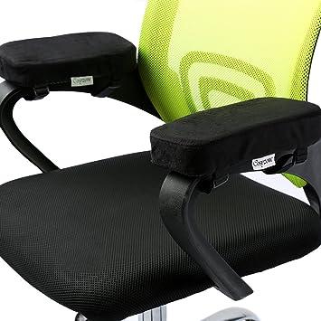 Cosy Zone Cojín de codo - Apoyabrazos de espuma de memoria Ordenador de cubiertas de la silla ...
