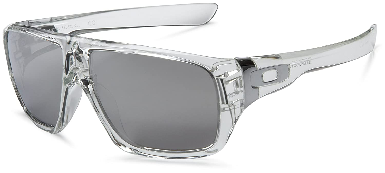 276cb6e0d9 Oakley Unisex Dispatch Oo9090 Polished Clear Frame Chrome Iridium Lens  Plastic Sunglasses  Oakley  Amazon.co.uk  Clothing
