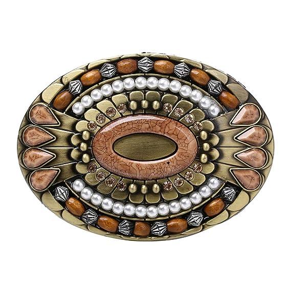 P Prettyia Boucle de Ceinture en Alliage Perles en bois + Strass Incrustés  Ovale pour Homme Cadeau de Noël  Amazon.fr  Vêtements et accessoires da0b6daf6d7