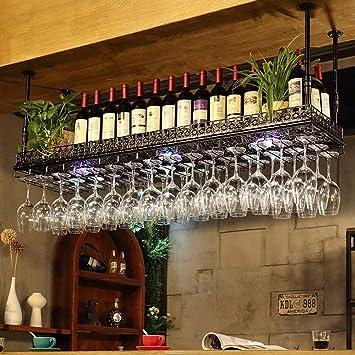 XQY Estantería para Vino Estanterías para Vino Altura Ajustable Estantería para Techo Estantería Colgante Estante para