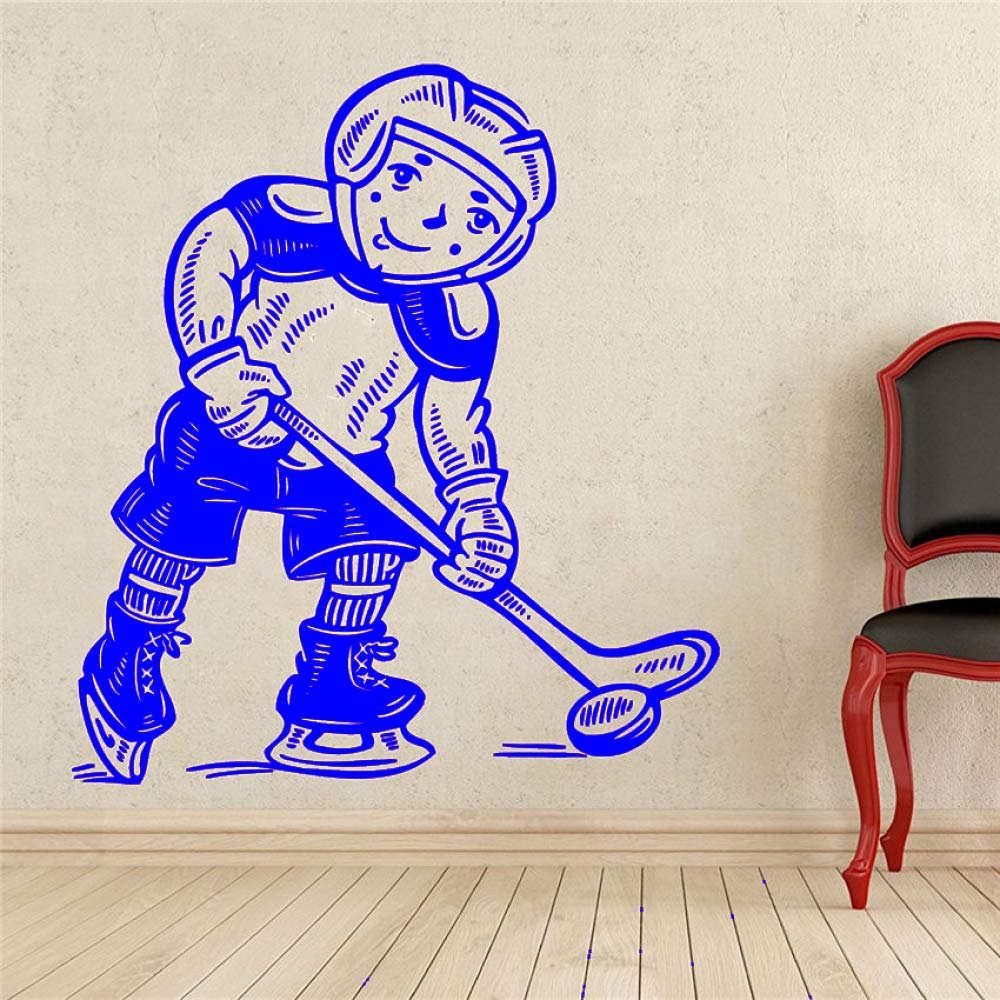 yaoxingfu Hockey Player Wall Decal Sport Vinilo Adhesivo ...
