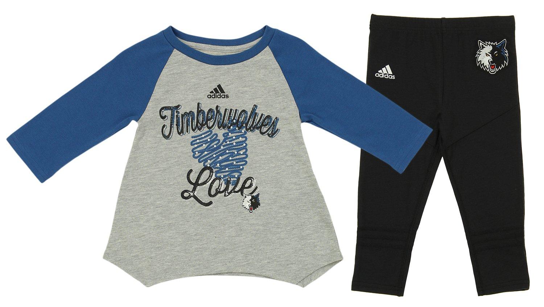 Outerstuff NBA 幼児用 ミネソタティンバーウルブス アリオップ レギンスセット ブルーとブラック 3T  B07CVKMKYL