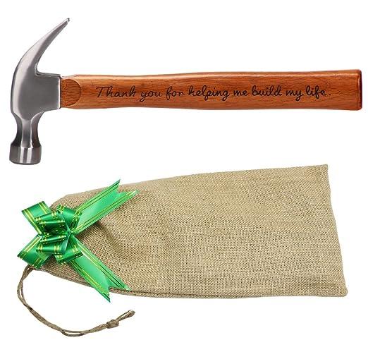 Langxun - Martillo de acero con mango de madera grabado ...