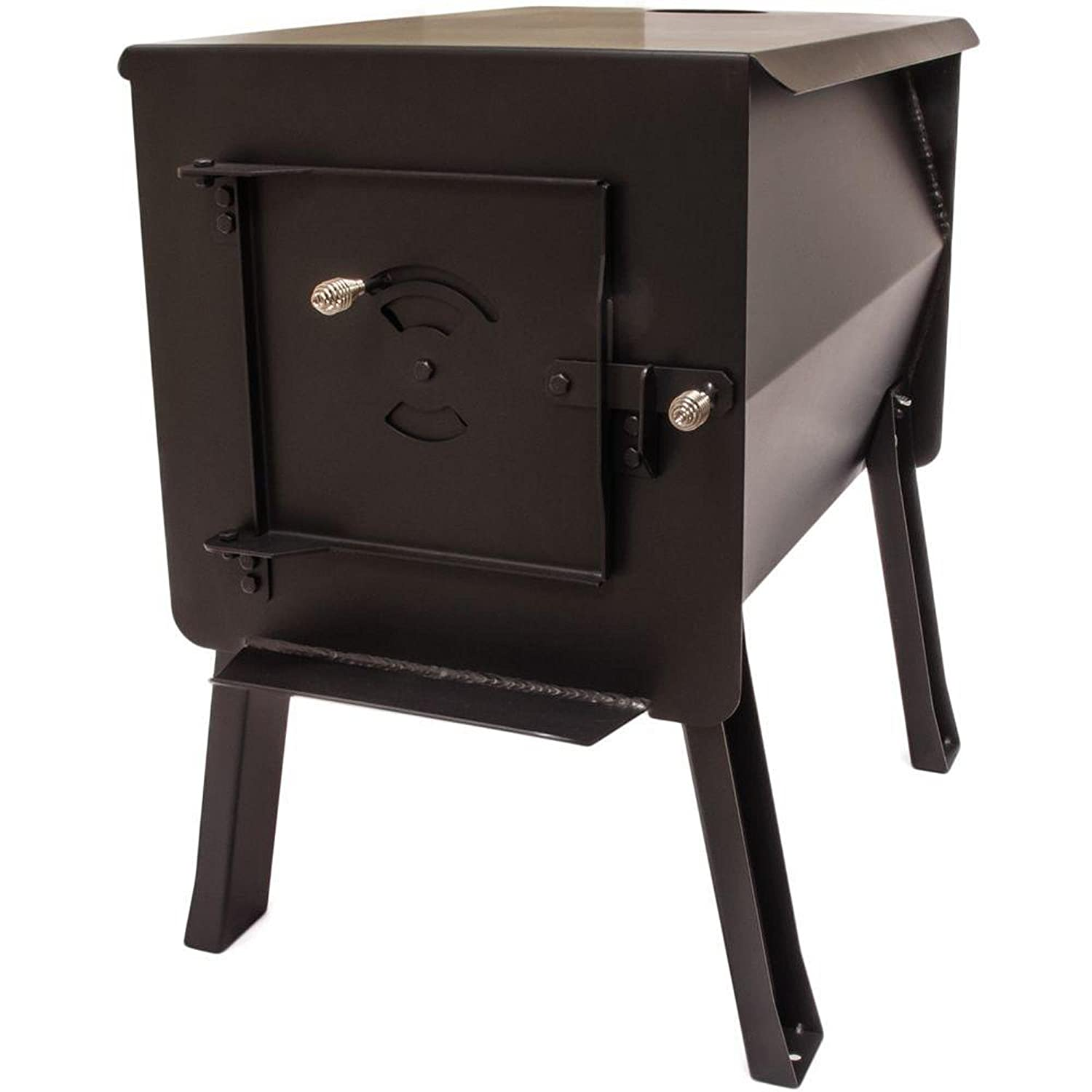"England's Stove WorksSurvivor 12-CSL""Grizzly"" Portable Camp/Cook Wood Stove 2.7 Cubic Feet"